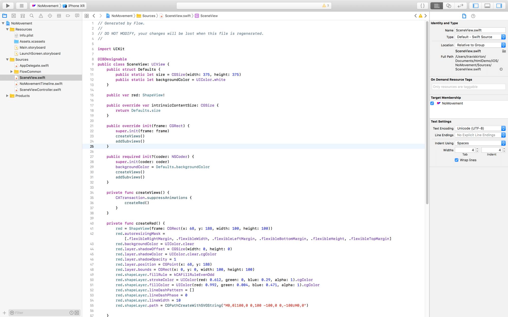 Flow Docs - Export Flow to iOS Code
